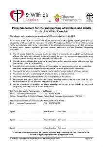 thumbnail of St Wilfrid Cowplain Parish Safeguarding Policy Statement July 2018