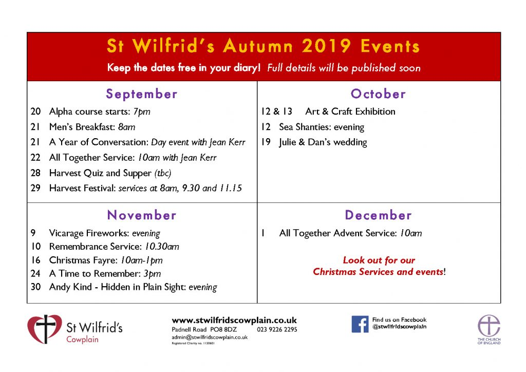 thumbnail of St Wilfrid's Events poster Sep-Dec 2019