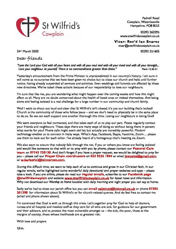thumbnail of Coronavirus letter 200324