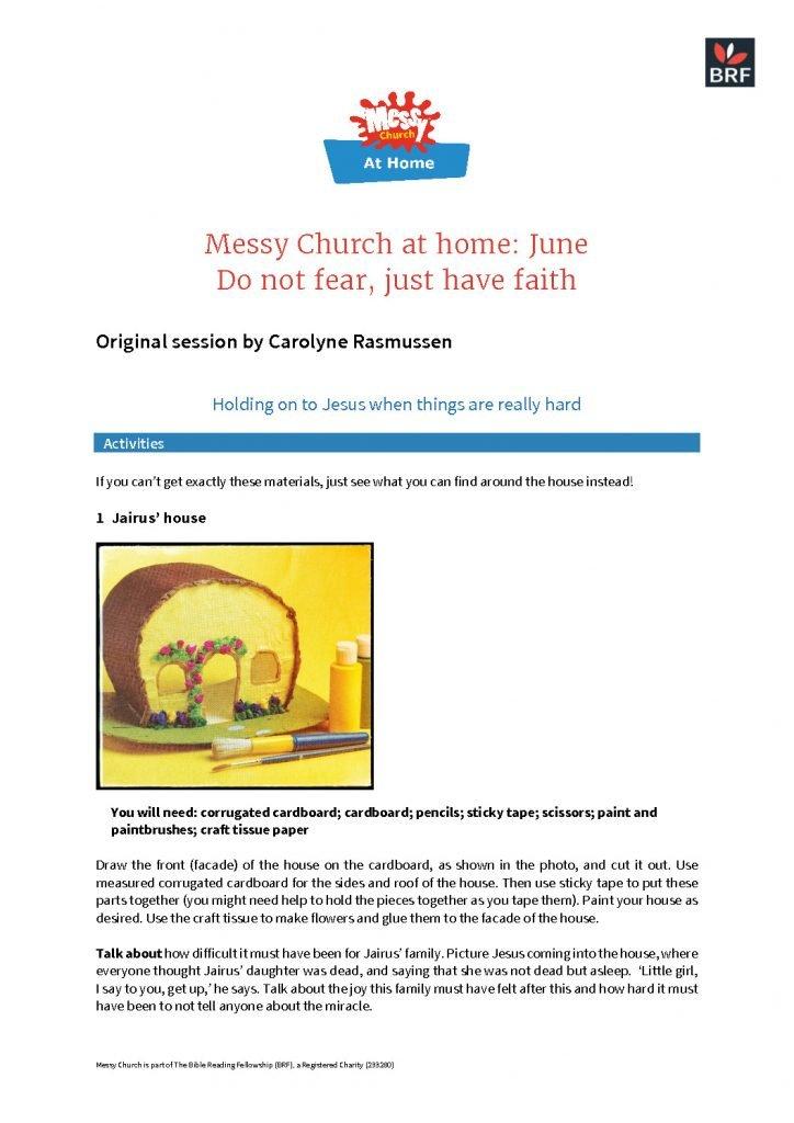 thumbnail of Messy Church at home – June