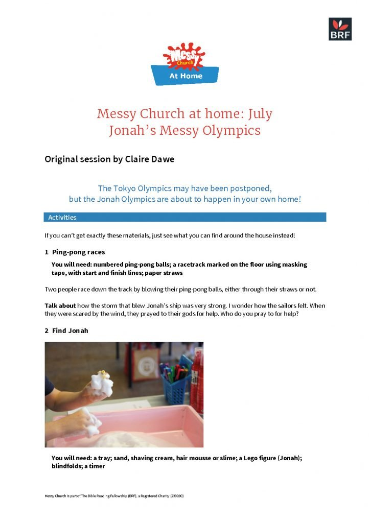thumbnail of Messy Church at home – July 3rd