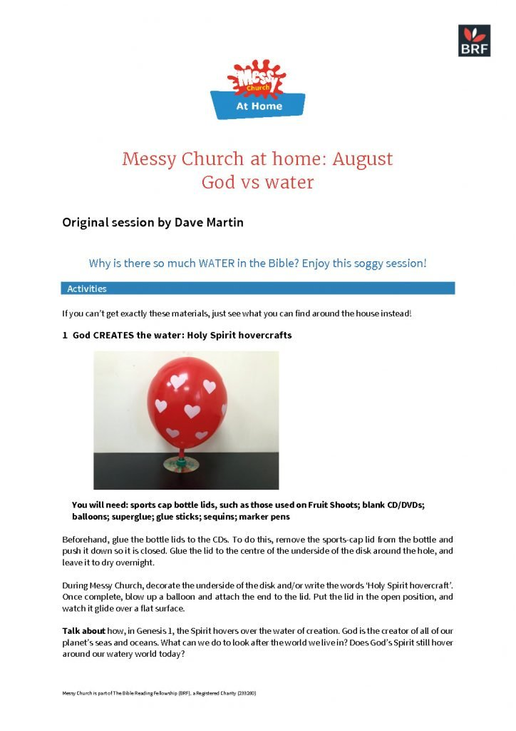 thumbnail of Messy Church at home – August