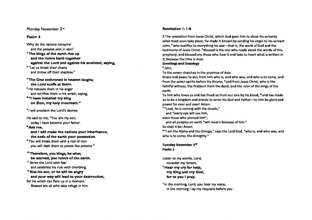 thumbnail of Monday November 2nd morning prayer and psalms