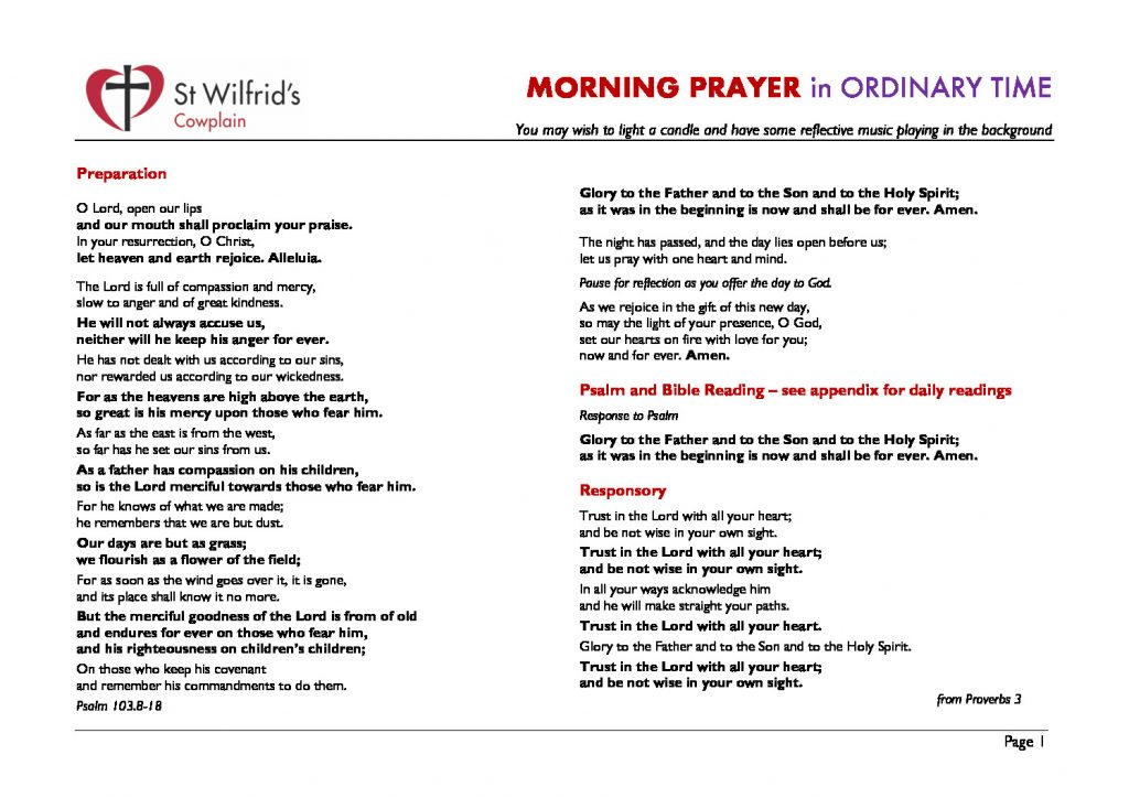 thumbnail of Morning Prayer ordinary time
