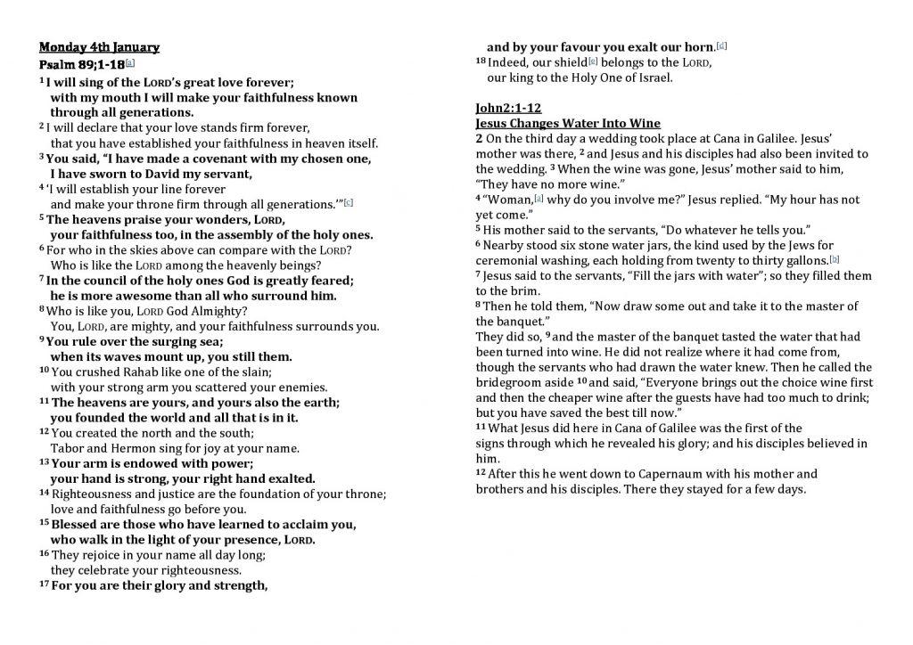 thumbnail of Morning Prayer Monday 4th January- Friday 8th January