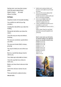 thumbnail of You may like to pray with this poem about Peter