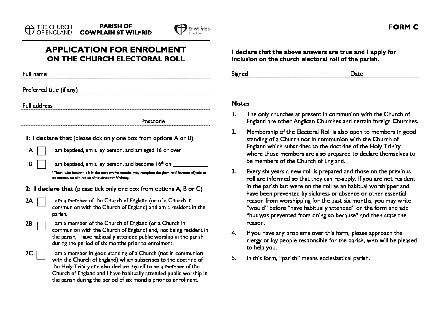 thumbnail of 2019 New Electoral Roll application form