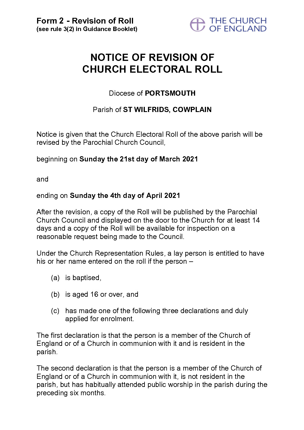 thumbnail of Form_2_-_Notice_of_Revision_of_Church_Electoral_Roll 2021
