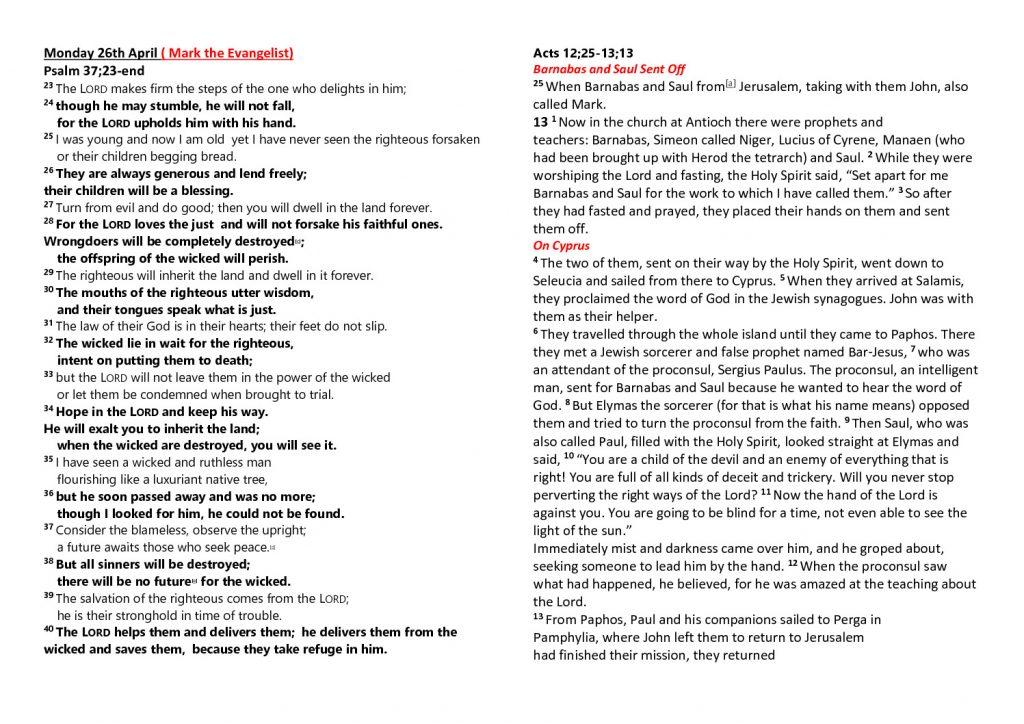 thumbnail of Morning Prayer and Psalms Monday 26h April – Friday 30th April