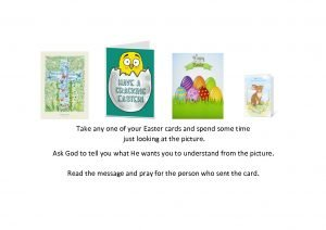 thumbnail of Take any one of your Easter cards and spend some time