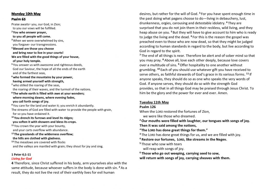 thumbnail of Morning Prayer and Psalms Monday 10th May- Friday 14th May