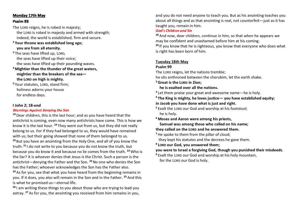 thumbnail of Morning Prayer and Psalms Monday 17th May- Friday 21st May