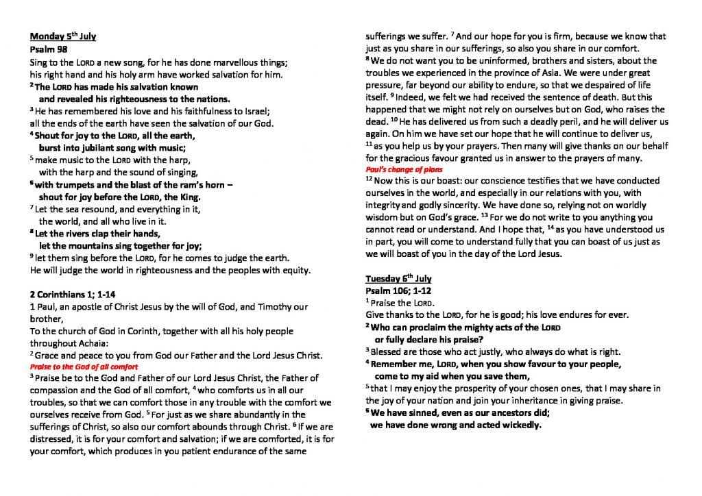 thumbnail of Morning Prayer and Psalms Monday 5th July – Saturday 10th July