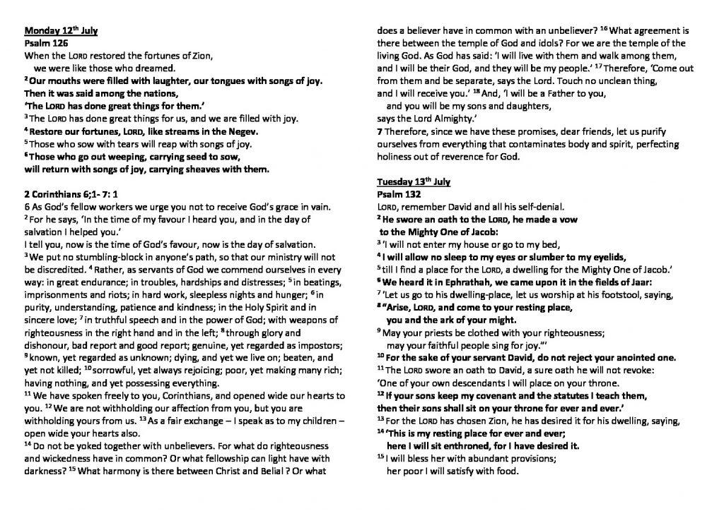 thumbnail of Morning Prayer and Psalms Monday 12th July – Saturday 17th July