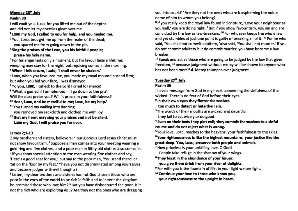 thumbnail of Morning Prayer and Psalms Monday 26th July Saturday 31st July