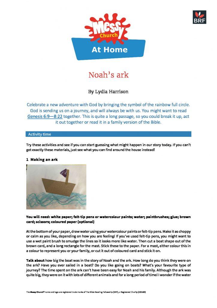 thumbnail of Noah's ark at home