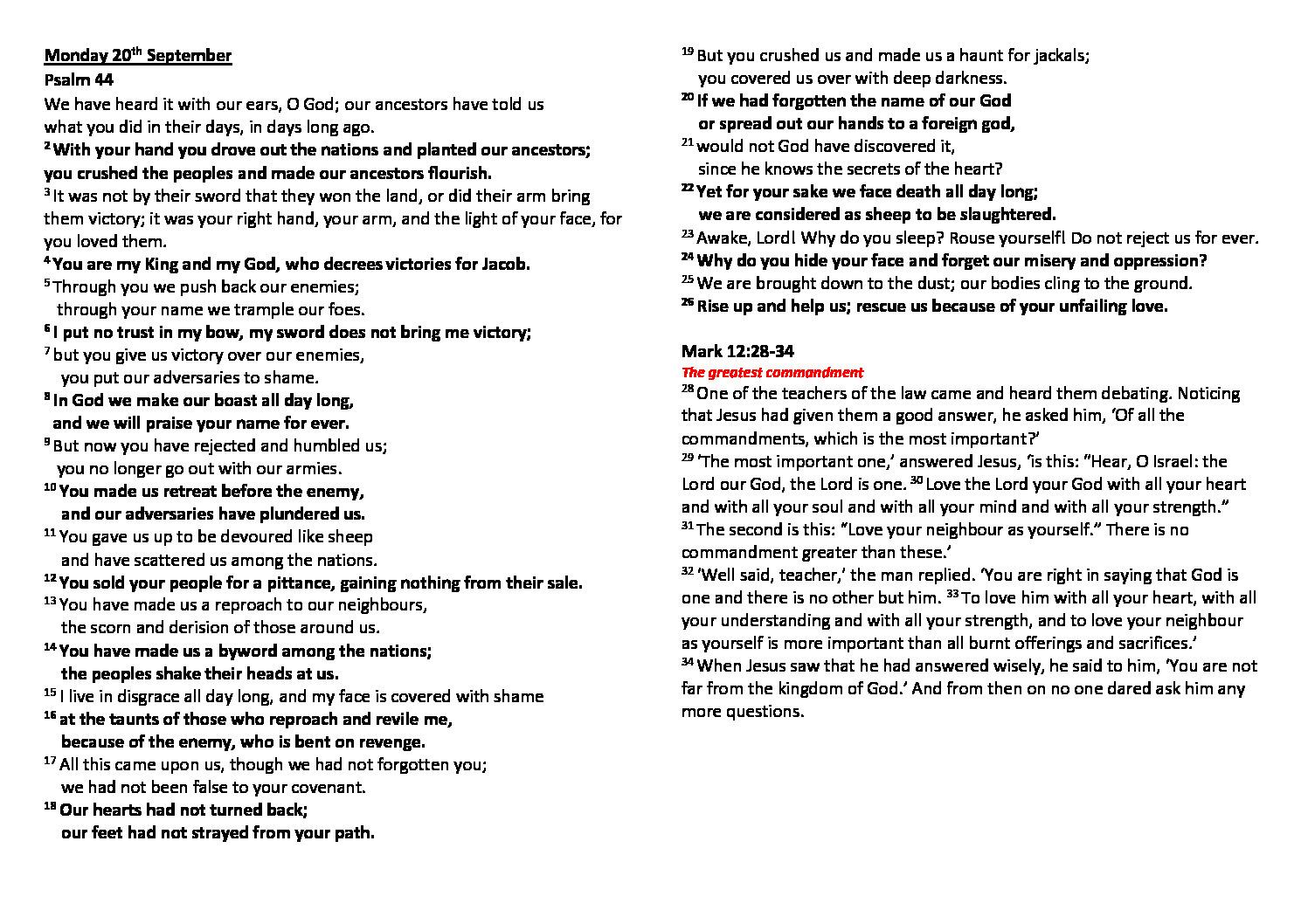 thumbnail of Morning Prayer and Psalms Monday 20th September – Saturday 25th September