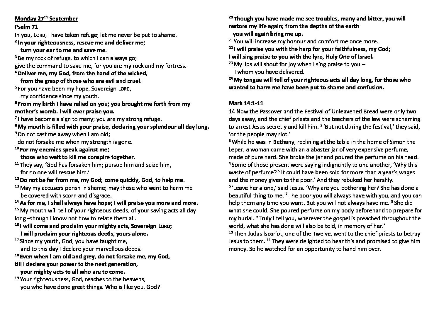 thumbnail of Morning Prayer and Psalms Monday27th September – Saturday 2nd October